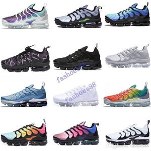 2019 Universidad azul TN Plus Racer rojo de las mujeres zapatos para hombre deportes corrientes de diseño Espíritu Teal geométricas activo del arco iris de los hombres zapatillas de deporte Trainer