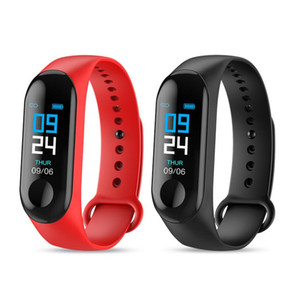 New M3 0.96 color screen smart watch bracelet heart rate monitoring information push Bluetooth call reminder sports watch