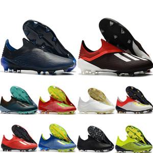 2019 yeni varış futbol ayakkabıları mens socer cleats X 18 + FG futbol çizmeler scarpe calcio altın