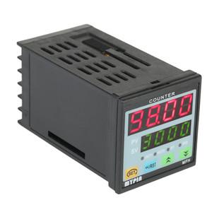 Dual 4 Digits LED Display Digital Counter Length Meter Intelligent 90-260V AC/DC Preset Length Counter Relay Output PNP NPN