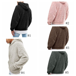 Mens Women Sherpa Hoodies Plush Fleece Pullover Hooded Sweatshirt Boys Hip Hop Street Fleece Hoodie Tops Berber Sweater Coat GGA2950-1