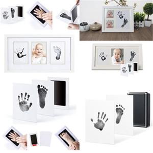 Hot Neugeborene Babys Souvenirs Inkless Wischen Baby Kit-Hand-Fuß-Print-Aufbewahrungs Fußabdruck Handabdruck Hand Footprint Makers New Arrival