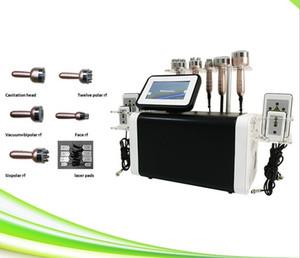 6 in 1 neuesten Spa-Salon Radiofrecuencia RF Kavitation Facelift RF schlanke Ultraschall Kavitation Hochfrequenz-Maschine