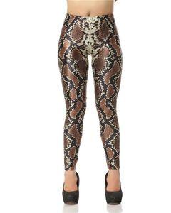 Snake Skin Leggings 3D Print Fitness Leggings Women Leggins Sexy Slim Elastic Causal Plus Size