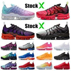 2020 Nike Air Vapormax Plus air max tn plus off white Damen Herren Laufschuhe Big Size Pastell Mix-Color Jump Fallschirm Release Purple Neon Trainer Turnschuhe
