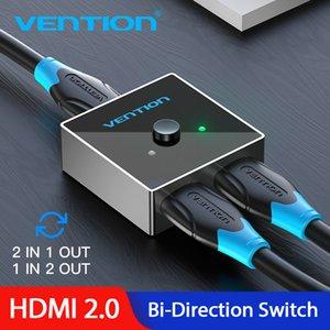 Kabel Vention Splitter 4K HDMI Switch Birichtung 1x2 / 2x1 Adapter HDMI 2.0 Switch 2 in 1 für Xiaomi TV Box