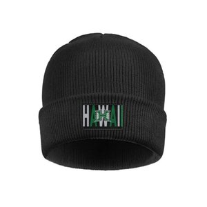 Мода Hawaii Warriors логотип Slouch надписи Часы Beanie Hat наручники Plain Шляпа белого черный Камуфляж Логотип Баскетбол Белого Футбол 3d