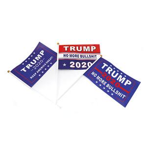 ترامب 2020 أعلام الانتخابات الأمريكية العلم الأمريكي للماء ورقة اليد يلوحون الرئيس العلم دونالد راية حديقة أعلام حزب الحسنات لعب E3307