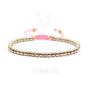 frete grátis Beads Roda personalizado trançado ajustável Charm Bracelet Pave Definir zircão Beads Macrame Homens Pulseiras