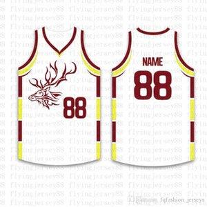 Top Custom Basketball Jerseys der Männer Stickerei Logos Jersey Freies Verschiffen billig Großhandel Jede beliebige Anzahl Größe nennen S-XXL 96