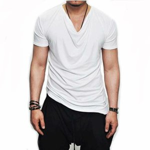 2019 New Men's Long T-Shirt Fashion Casual Wild Hip-Hop T-Shirt British Style Solid Color European And American Shirts Light And Breathable