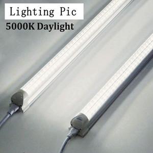 25pcs Entegre T8 Led Tüp Işık Çift hat 5000K Beyaz 4ft 5 ft 6 ft 8ft Çift satır Cooler Aydınlatma Led dükkan ışıkları