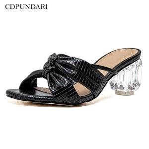 CDPUNDARI Donne Trasparente tacco alto pantofole Signore Estate Scarpe Donna