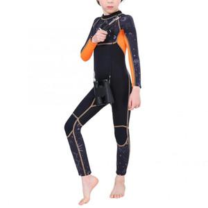 SLINX 2.5mm Çocuk Dalgıç Giysisi Tek Parçalar Mayo Uzun Kollu Sıcak Kid Şnorkel Güneş kremi Dalgıç Kid Dalış Suit tutun