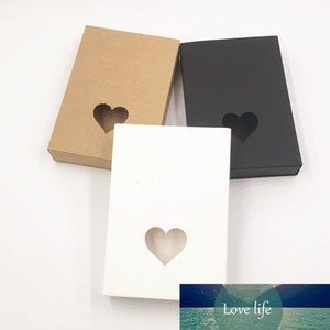 kraft paper cardboard gift boxes for wedding small black white brown paper drawer box hollow heart christmas gift packaging