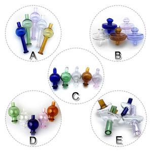 5 Estilos de vidro Carb Caps bolha direcional Bola Cap Cap UFO coloridos de vidro Carb Caps Para Quartz Banger Unhas Água Bongos Dab Rigs