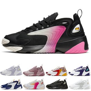 Designer M2K Tekno Zoom 2K Homens Running Shoes Moda Mulheres Sneaker Triplo Preto Preto Volt instrutor Sports Mens Athletic Jogging sapatos