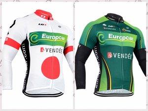 EUROPCRA Team 2020 новый Мужчины с длинным рукавом Велоспорт Джерси Горный велосипед вершины Велоспорт одежда B61116