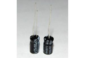 100pcs 100uF / 25V, 25V / 100uF, 100uF25V, 25V100uF Elektrolytkondensatoren, Electrolytic Capacitor 6mm11mm, 105 Grad Celsius