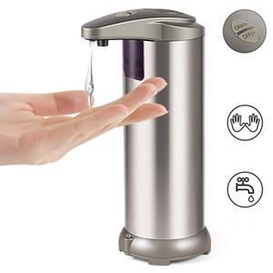 Sapone liquido 280ML erogatore automatico del sensore della pompa Distributore di sapone in acciaio inox doccia sapone della bottiglia a Bagno Bagno Cucina MMA2657-2