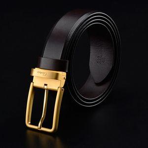 Cinto de Designer de Cintos de Mens Cintos de Couro Cinto de Negócios de Ceinture Cinto de Grande de Ouro de Retro Fivela de Agulhas de Cintos Presente com Caixa