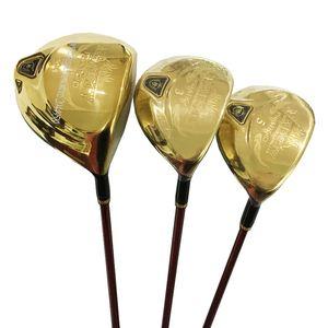New Golf Clubs Maruman Majesty Prestigio 9 Golf Wood 1#driver 3 5 wood Set Clubs Golf Graphite shaft and wood headcover Free shipping
