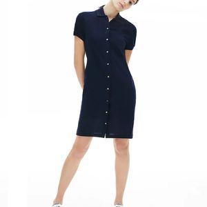 robe femme polo lacoste womens crocodile coton Robes chemise de marque Polo Vêtements décontractés Jupe douces fraîches Vêtements femmes Dressses
