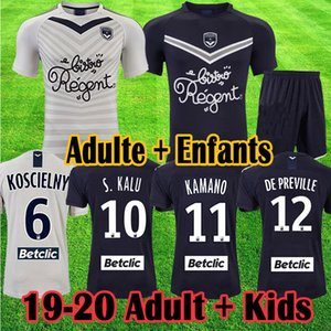 2020 Maillot Girondins de Bordeaux 2019 BRIAND S KALU KAMANO Soccer Jerseys BENITO UI JO Shirts Bordeaux 19 20 Kids Football kits uniforms