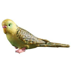 Decorativi Simulazione Parrot, Figure artificiali miniatura Uccelli modello animale, Artigianato Uccello Per la casa ornamenti, blu / verde (verde) C19041601