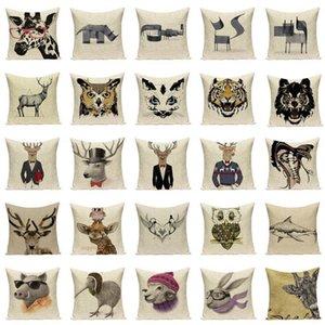 Karikatur-Tierkissen schwarz weiß dekorative Kissen Dropkissenbezug lieber Kaninchen Kissen Hauptdekor Kissenbezug
