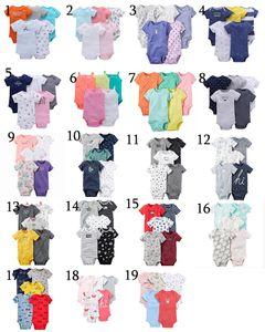 Uniesx Newborn Baby Rompers Одежда 5 Шт. / Лот Детские Комбинезоны 100% Хлопок Дети Roupa De Bebe GirlsBoys Детская Одежда
