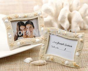 결혼 선물 및 경품- '씨 사이드'모래와 조개 장소 카드 홀더 사진 프레임 결혼식 호의 250pcs / lot