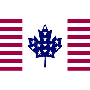 EE.UU. Estados Unidos de América Canadá Canadian Flag Amistad banner150X90CM 100D poliéster bandera ojales de bronce hechos, envío libre
