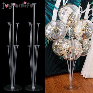 heap Ballons & Accessories 2set 14 Tubes Balloon Holder Balloons Stand Column Confetti Balloon Kids Birthday Party Baby Shower Wedding De...