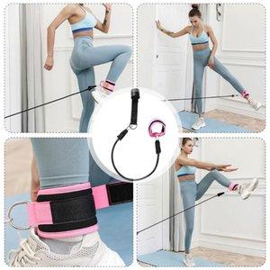 Door pull rope accessories gantry frame leg training hip training fitness elastic band foot ring leggings buckle ankle strap set
