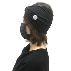 9 color de la mascarilla de Earloop diadema Mascarilla oído hebilla elástico venda del oído de la cuerda de seguridad Titular banda para la cabeza con pañuelos Botón AJJ355 mayorista
