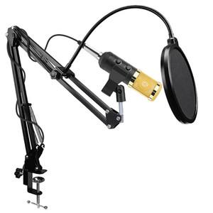 Microphone d'enregistrement podcast BM-900 avec pied Microphone de diffusion studio à condensateur professionnel