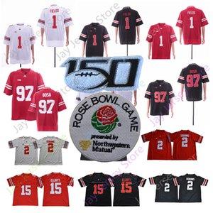 NCAA OSU Ohio State Buckeyes College Football Jersey 1 Justin Felder 2 J. K. Dobbins 15 Elliott 7 Haskins Jr. 97 Bosa