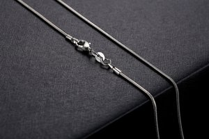 Wholesale-1MM 925 Silver Snake Chain Necklace with Lobster Clasps Jewelry chains For Pendant DIY 16inch to 24 inch 100pcs lot