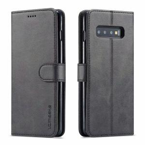 LC.IMEEKE кожаный флип чехол для Samsung Galaxy S10 S9 S8 плюс S10E 5G Note 8 9 A6 A7 A8 J4 J6 2018 Чехол для телефона Чехлы для телефона Слот для карты