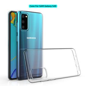 New Ultra Slim Fina E Macia TPU Gel de silicone de borracha Limpar tampa transparente capa para Samsung S20 Além disso S10 Nota 10 10+ 9 8 M10 completa anti-risco