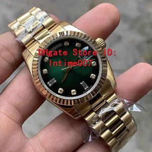 2019 Venta caliente Nuevo Unisex relojes 36 mm 128235 118235 128238 Día Fecha Presidente 18k de oro rosa diamante de Asia 2813 relojes automáticos de movimiento