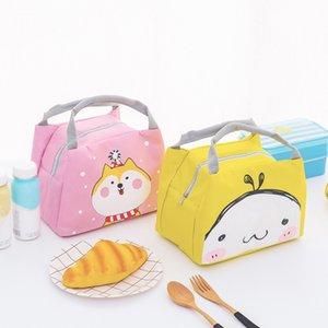 Bolsa de almuerzo para mujeres, niñas, niños, niños, dibujos animados, caja de almuerzo con aislamiento térmico, bolsa de picnic, bolsa de botella de leche