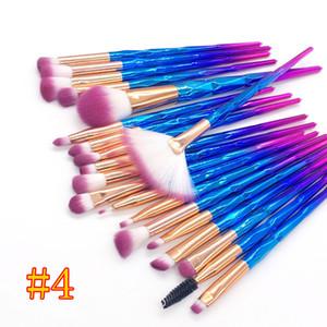 Alboad Makeup Щетки 20 шт. Установить порошковые наборы кисти лица и глаз кисточка пышные пакетные красочные кисти фундамент кисти красота косметика DHL