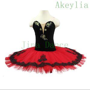Professional ballet tutus black Red Paquita Princess Kitri Don Quixote Classical pancake tutu dresses ballet costumes for child