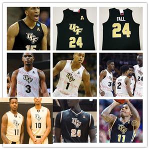 Custom UCF Knights Basketbol Jersey 1 B. J. Taylor 2 Terrell Allen 15 Aubrey Dawkins 24 Tacko 35 Collin Smith UCF Knights Jersey Fall