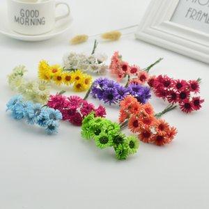 10pcs 2cm cheap Handmade Artificial Chrysanthemum Rose DIY Decorative Wedding Gift Scrapbook Artificial Gerbera Pet Supplies Home Garden