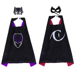 Camada dupla 27 polegada de super-heróis brinquedos dos desenhos animados trajes superhero capa com máscara para o dia das bruxas kid favores suprimentos presentes de aniversário de natal