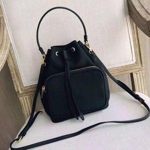 Wholesale lWaterproof Canvas Drawstring pouch women Drawstring bag bucket lady messenger bag phone purse satchel chain shoulder bag handbag