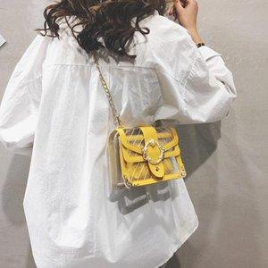 Belle2019 Rui Man Transparent Bag Diamond Lattice Chain Real Jelly Ins Small Square Package Woman Oblique